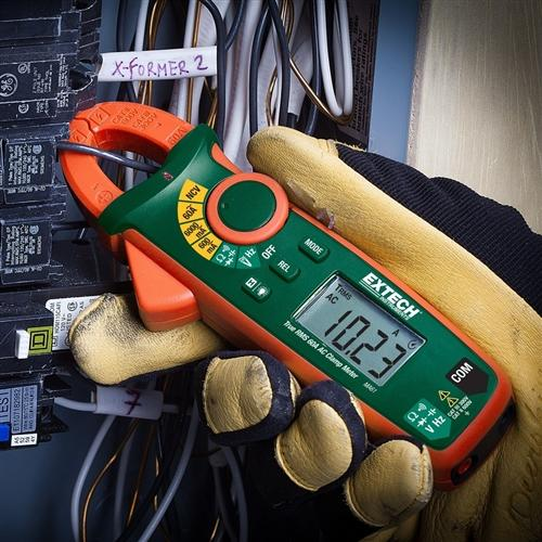 Extech MA61: 60A True RMS AC Clamp Meter + NCV
