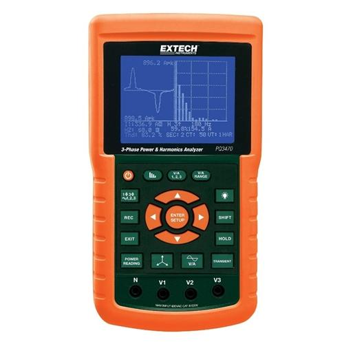 Extech PQ3470: 3-Phase Graphical Power & Harmonics Analyzer/Datalogger