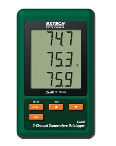 Extech SD200: 3-Channel Temperature Datalogger