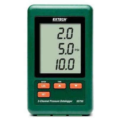 Extech SD750: 3-Channel Pressure Datalogger