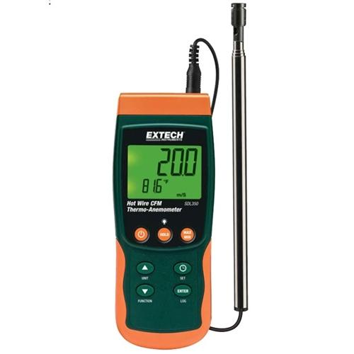 Extech SDL350: Hot Wire CFM Thermo-Anemometer/Datalogger