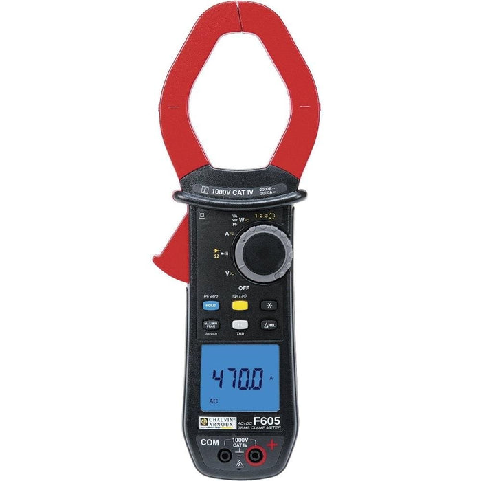 Chauvin Arnoux F605 : True RMS AC/DC digital clamp meter - Anaum - Test and Measurement
