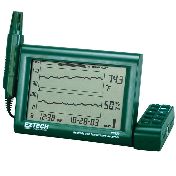 Extech RH520A: Humidity+Temperature Chart Recorder with Detachable Probe