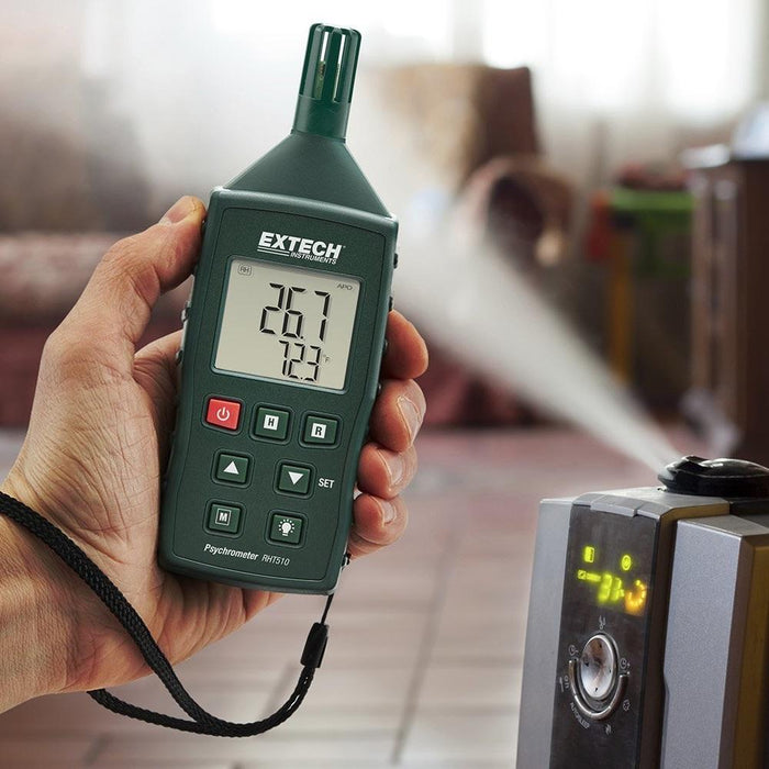 Extech RHT510: Hygro-Thermometer Psychrometer