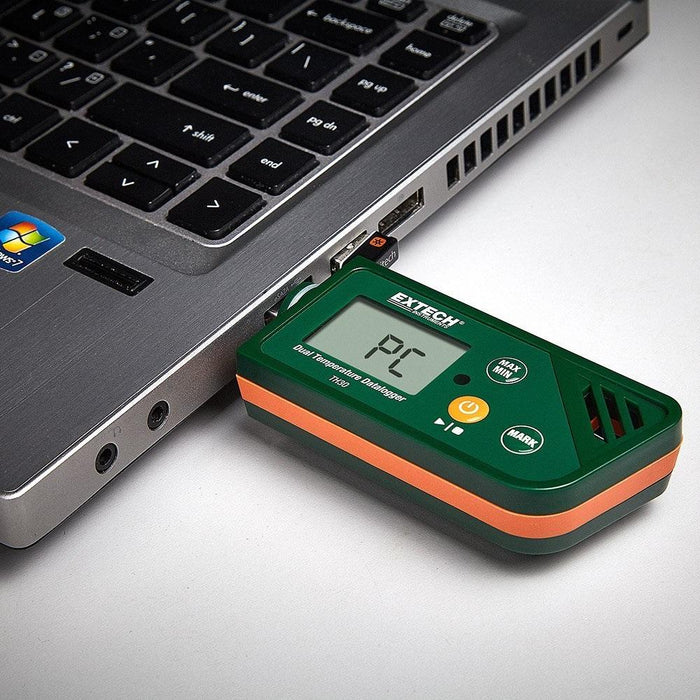 Extech TH30: USB Dual Temperature Datalogger