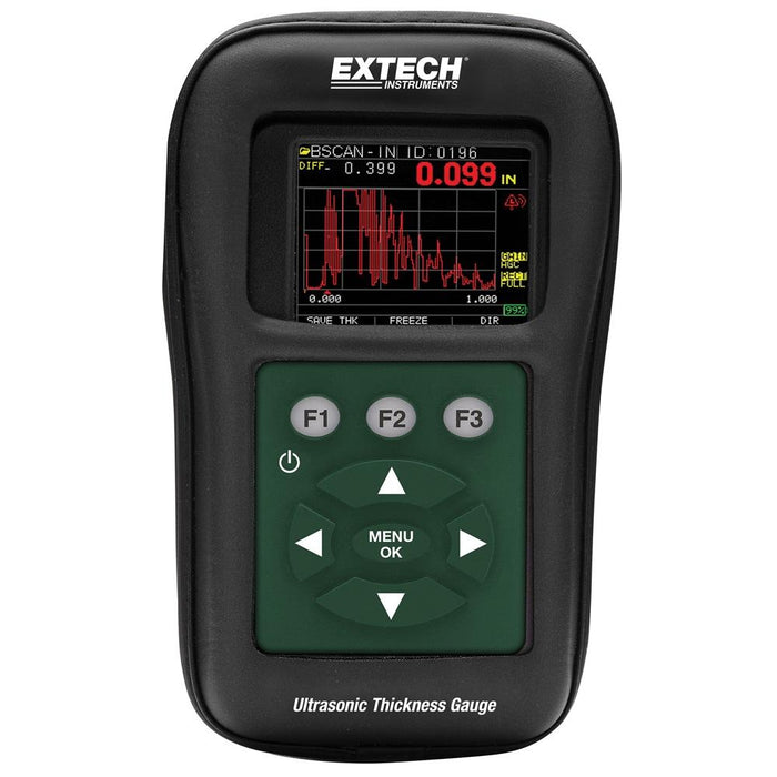 Extech TKG250: Digital Ultrasonic Thickness Gauge / Datalogger