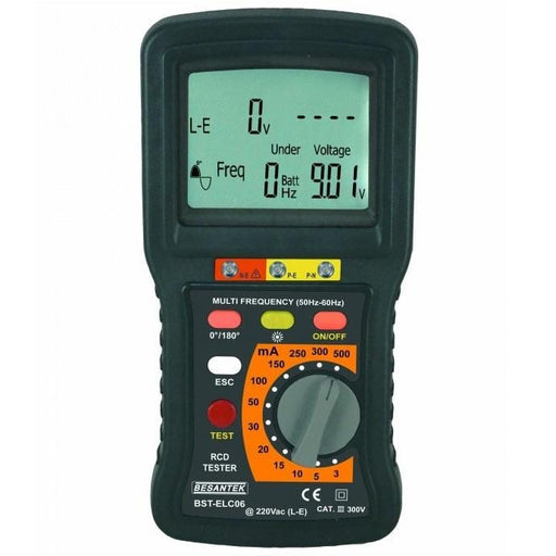 Besantek BST-ELC06: Digital RCD Tester - Anaum - Test and Measurement