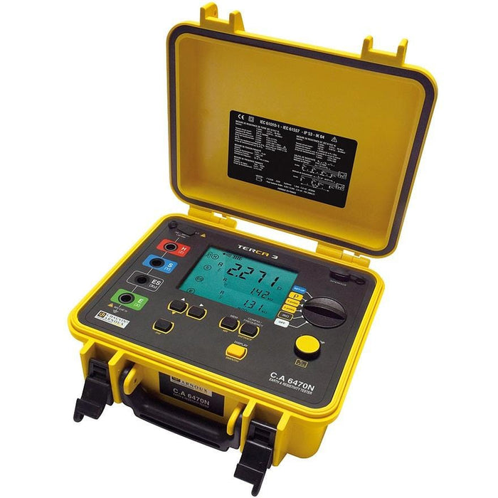 Chauvin Arnoux CA6470N TERCA 3 : Earth & Resistance Tester - Anaum - Test and Measurement