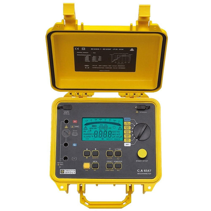 Chauvin Arnoux CA6547 : Digital Insulation Tester, 5000V - Anaum - Test and Measurement
