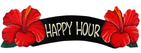 Red Happy Hour Sign
