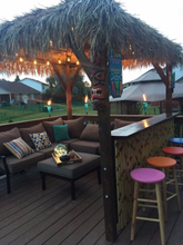 Tiki Cabana with Tiki Bar Wall