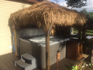 Hot Tub Tiki Cabana