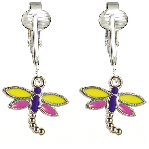 Aloha Earrings Butterfly Clip Earrings, Dragonfly Clip On Earrings, Butterfly Clip On Earrings for Women