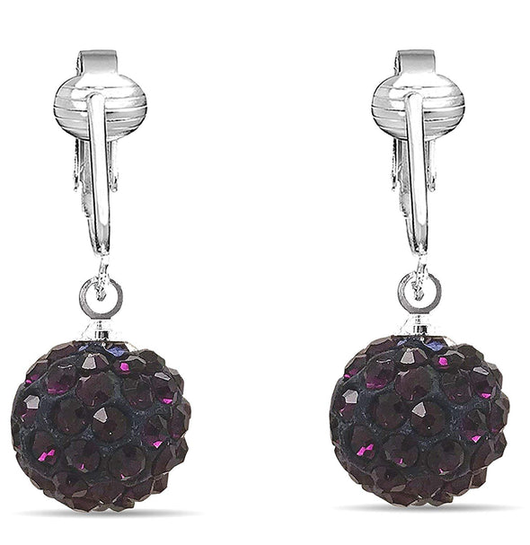 Dazzling CZ Clip On Earrings for Women- Cubic Zirconia Crystal Clip Earrings Sparkle Nonpiercing Earrings