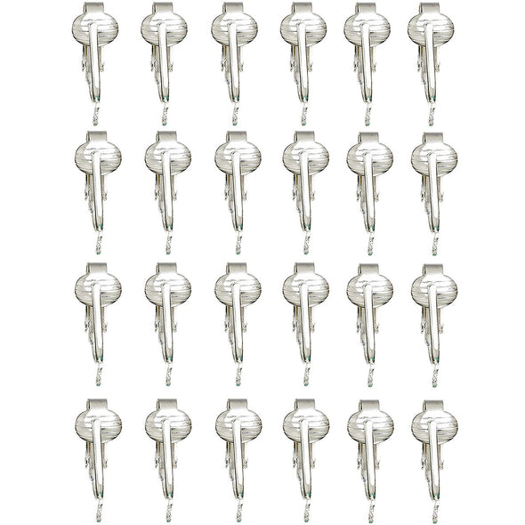 Gold, Silver Clip On Earring Converter Kit-12, 24 Pair Clip Earring Findings, Dangle Earring Converters (Silver 12 Pair & Booklet)