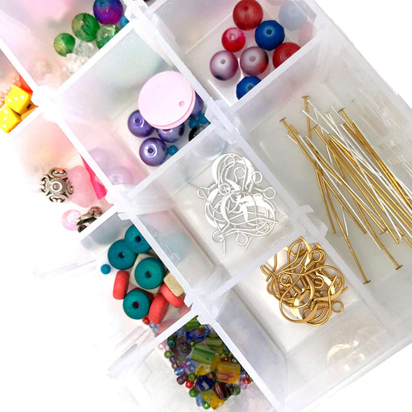 Make Your Own Pierced Earrings Jewelry Kids Kit-Supplies, Findings-Create Earrings: Beads, Hooks, How To Guide