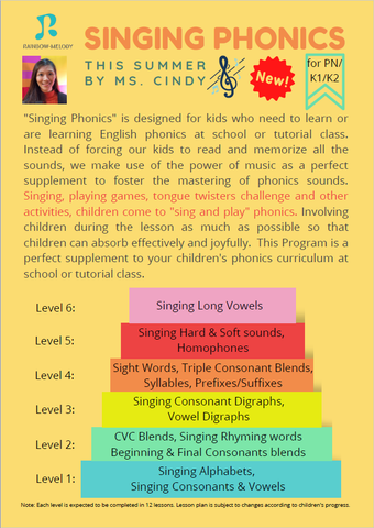 Singing Phonics (PN-K2, Wanchai)