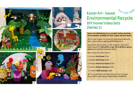 Easter Art - based Environmental Recycle DIY Home Video Sets (Series 1) - Whizpa