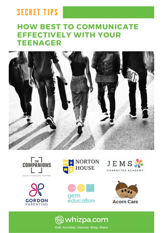 Whizpa eBook#3: How Best To Communicate Effectively With Your Teenager