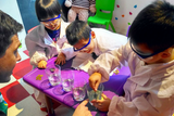 Children are attending Science Class in Kickstart Education