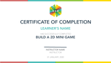 Build a 2D Mini Game 5-Day Camp (12-14 years, Online)