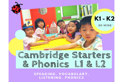 Cambridge Starters & Phonics (3-5 years, Hong Kong) - Whizpa