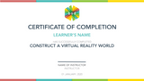Construct a Virtual Reality World 5-Day Camp (12-14 years, Online)