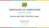Design and Code Your First Game in a 5-Day Camp (10-12 years, Online)