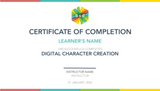 Digital Character Creation 5-Day Camp (12-14 years, Online)