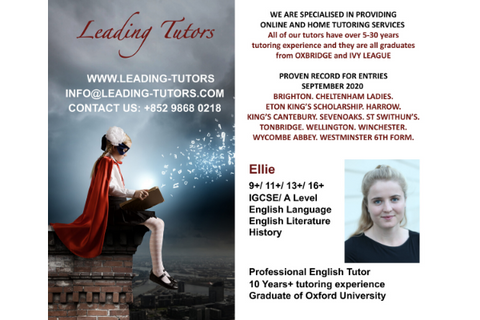 Leading Tutors - Ellie (UK English Tutor) (>8 years, Online) - Whizpa
