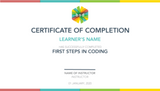 First Steps in Coding 5-Day Camp (8-10 years, Online)