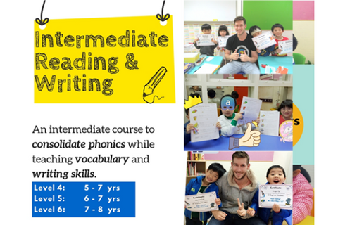 Intermediate Reading & Writing (5-8 years, Hong Kong) - Whizpa