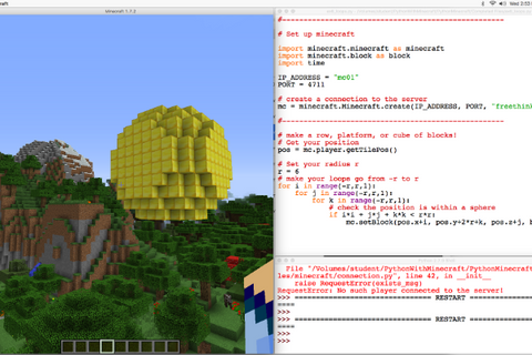 Minecraft Chapter 4: Minecraft with Python 4 or 5 Days (9-16 years, Hong Kong / Kowloon) - Whizpa