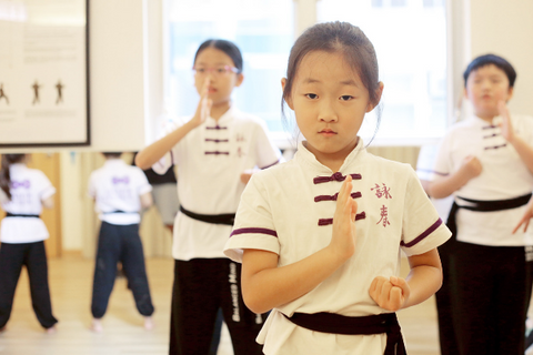 Children are learning wing chun at Mindful Wing Chun
