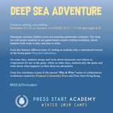 """Deep Sea Adventure"" Creative Writing & Storytelling Course (Ages 6-8, Central)"