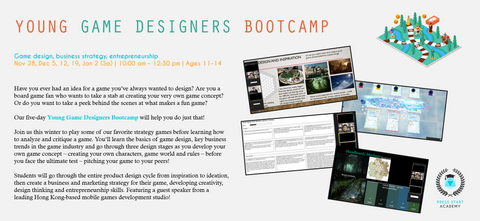 """The Young Game Designers Bootcamp"" Game Design, Business Strategy, Entrepreneurship Course (Ages 11-14, Central)"