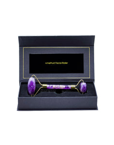 Amethyst Facial Roller with Travel Box