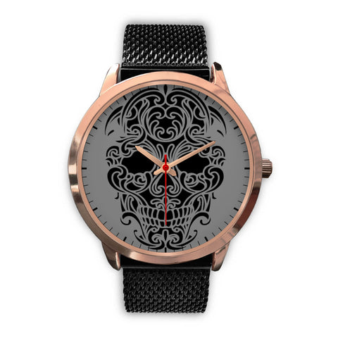 Image of Sugar Skull Watch Rose Gold - Discount Patrol