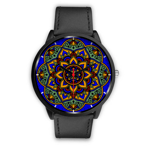 Colorful Boho Mandala Watch Black