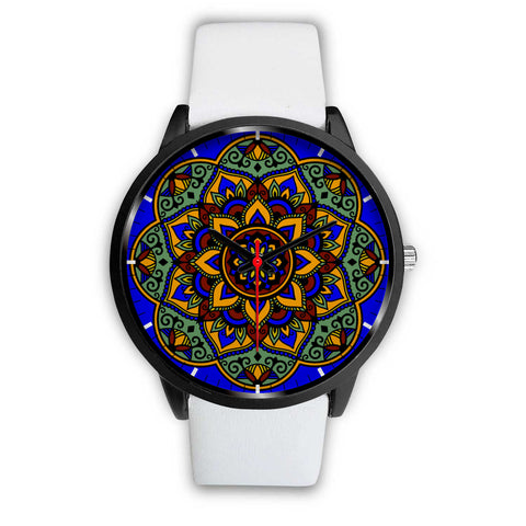 Colorful Boho Mandala Watch White