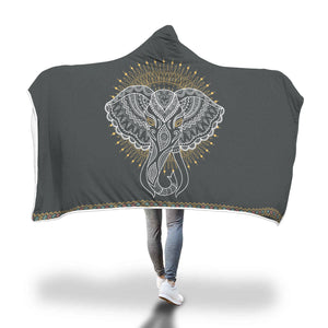 Mandala Elephant Hooded Blanket - Discount Patrol