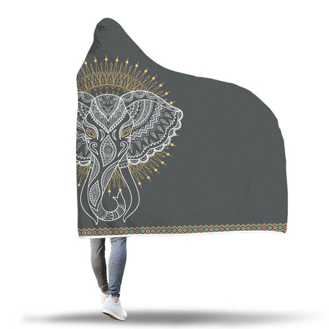 Image of Mandala Elephant Hooded Blanket - Discount Patrol