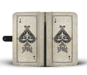 ACE OF SPADES PHONE WALLET CASE - AVAILABLE FOR 50+ SMARTPHONES