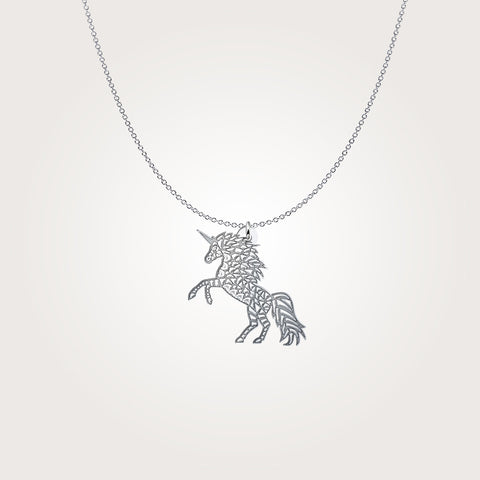 Tribal Unicorn Horn Pendant Necklace - Discount Patrol