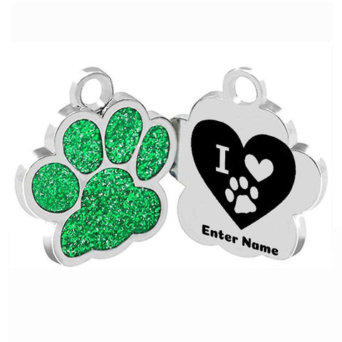 Green Personalized Dog Collars