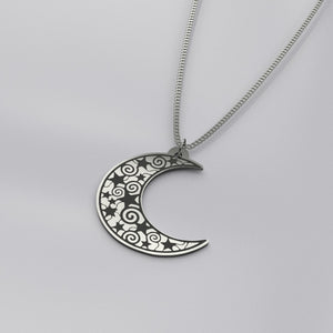Crescent Moon & Star Pendant Necklace