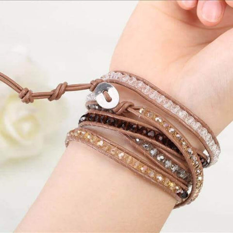 Image of Royal Beaded Wrap Bracelet - Discount Patrol