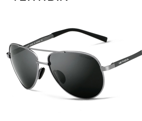 Image of Designer Pilot Polarized Sun Glasses For Men