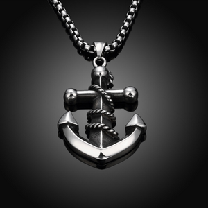 Stainless Steel Punk Anchor Shape Pendant