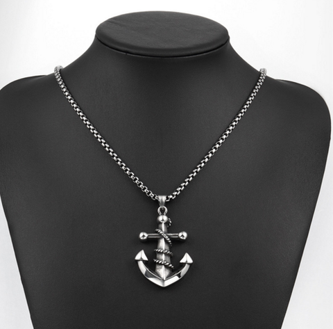 Stainless Steel Punk Anchor Shape Pendant - Discount Patrol
